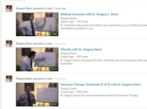 Dr. Davis YouTube Videos
