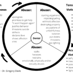 Flowchart explaining the cycle of IPV